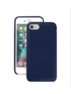 COQUE IPHONE 7 EN CUIR DE LUXE EXCLUSIVE CASE BLEU MARINE