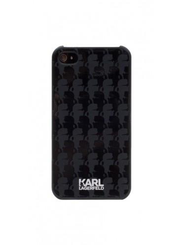 Etuis à rabat KARL LAGERFELD pour modèle IPHONE 4/4S - KLHCP4KBL