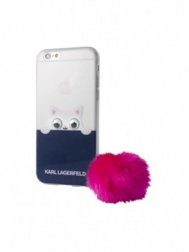 Coque souple Karl Lagerfeld pink pompon