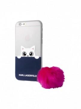Coque souple KARL LAGERFELD pour modèle IPHONE 8 - KLHCP7TRGPABPI