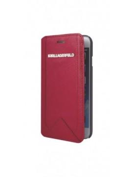 Etuis à rabat KARL LAGERFELD pour modèle IPHONE 6/6S - KLFLBKP6SARE