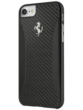 COQUE RIGIDE FERRARI CARBONE NOIRE - IPHONE 7
