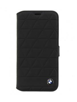BMW COQUE PROTECTION POUR IPHONE X - VÉRITABLE CUIR MATELASSÉ - BMW HEXAGONES