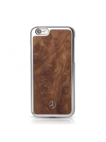 COQUE RIGIDE MERCEDES BOIS MARRON COLLECTION NATURAL LINE