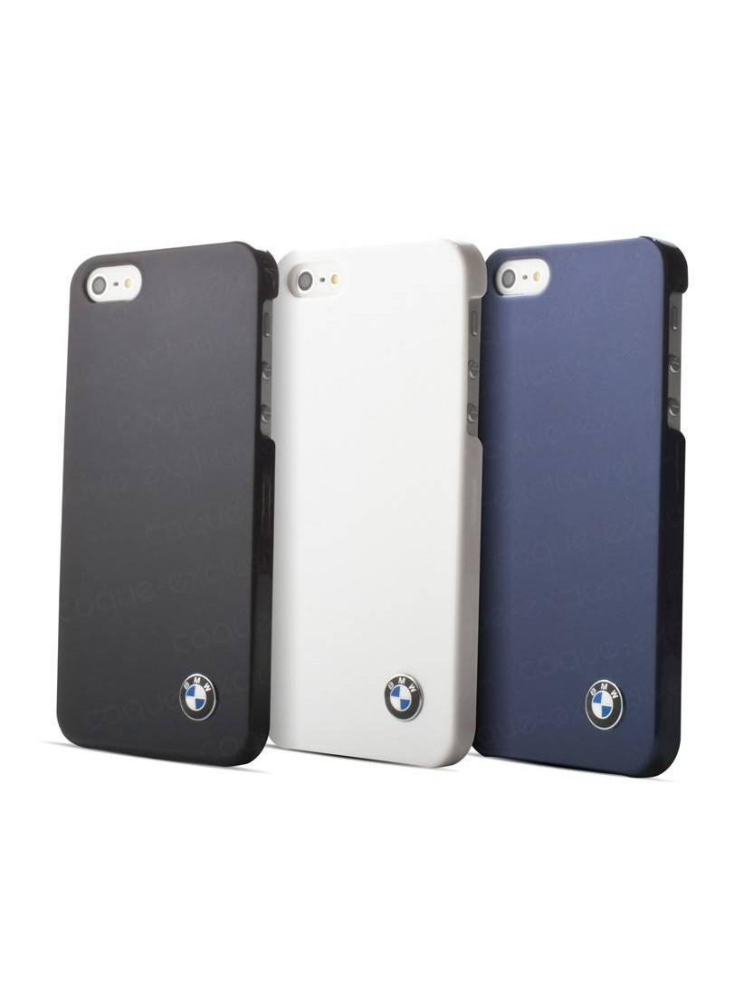 coque rigide bmw metallic finish noir iphone 5