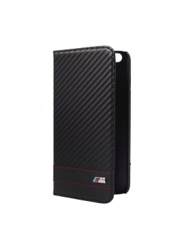 ETUI FOLIO NOIR FINITION ROUGE BMW M COLLECTION CARBONE EFFECT
