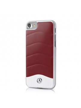 Coque en cuir Mercedes rouge collection Brushed Aluminium